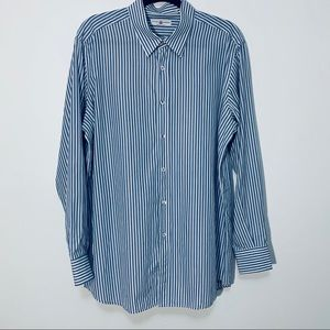 Luciano Barbera Long Sleeve Button Up XL Blue